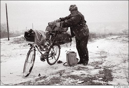 Bicicletă supraîncărcată